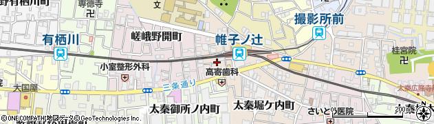 京都府京都市右京区太秦帷子ケ辻町周辺の地図