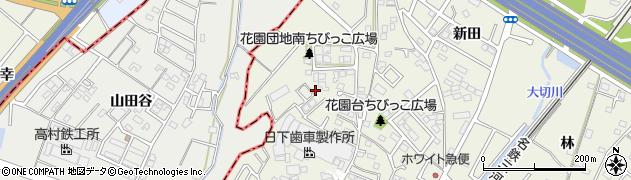 愛知県豊田市花園町(小松原)周辺の地図