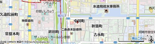 京都府京都市左京区中川町周辺の地図
