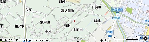 愛知県東海市大田町(前畑)周辺の地図