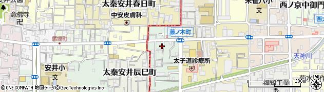 京都府京都市中京区西ノ京藤ノ木町周辺の地図