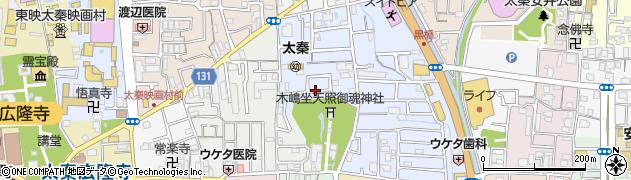 京都府京都市右京区太秦森ケ東町周辺の地図
