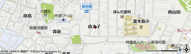 愛知県東海市富木島町(南太子)周辺の地図