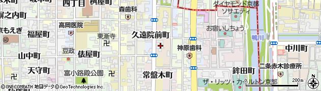 京都府京都市中京区藤木町周辺の地図