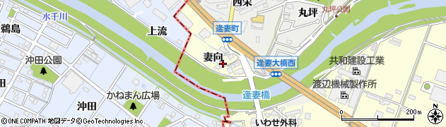 愛知県知立市西町(妻向)周辺の地図