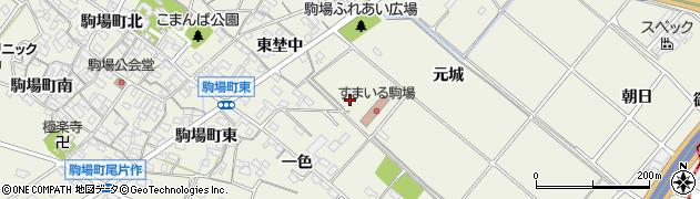 愛知県豊田市駒場町(元城)周辺の地図