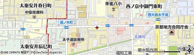 京都府京都市中京区西ノ京塚本町周辺の地図