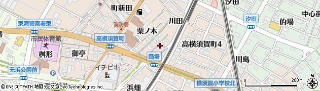 愛知県東海市高横須賀町(踊場)周辺の地図
