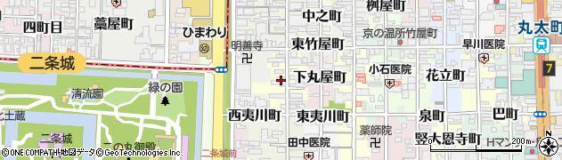 京都府京都市中京区橋本町周辺の地図