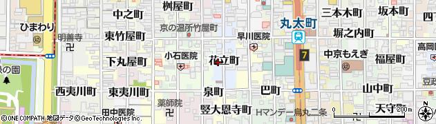京都府京都市中京区花立町周辺の地図