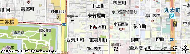 京都府京都市中京区下丸屋町周辺の地図