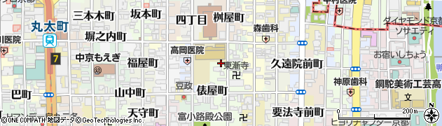 京都府京都市中京区大炊町周辺の地図