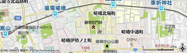 曇華院周辺の地図