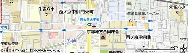 京都府京都市中京区西ノ京上合町周辺の地図