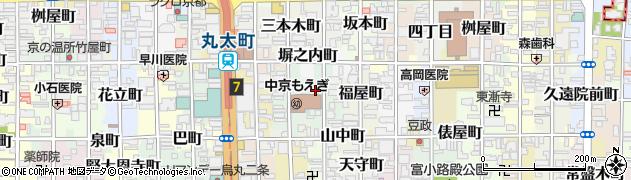 京都府京都市中京区楠町周辺の地図