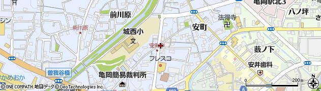 京都府亀岡市安町(中畠)周辺の地図