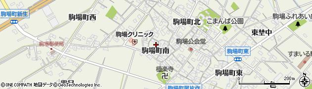 愛知県豊田市駒場町(南)周辺の地図