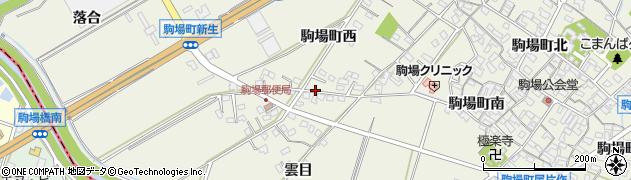 愛知県豊田市駒場町(西)周辺の地図