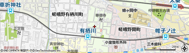 京都府京都市右京区嵯峨野神ノ木町周辺の地図