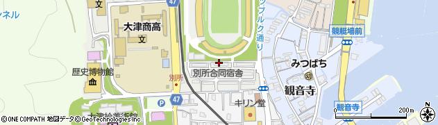 滋賀県大津市御陵町周辺の地図