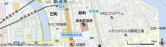 静岡市役所財政局 税務部清水市税事務所納税係周辺の地図