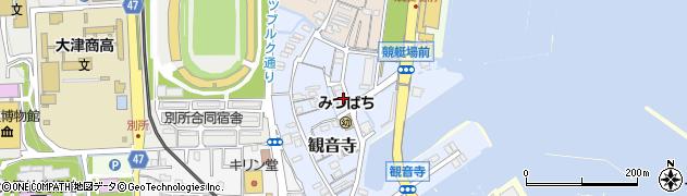 滋賀県大津市観音寺周辺の地図