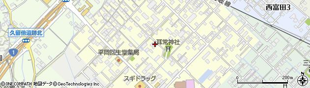 三重県四日市市下之宮町周辺の地図