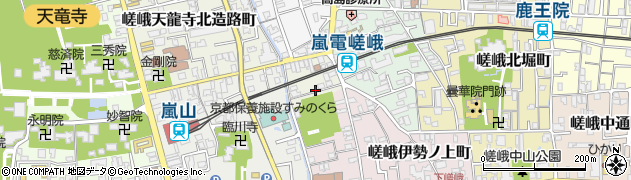 京都府京都市右京区嵯峨天龍寺龍門町周辺の地図