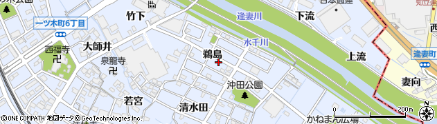 愛知県刈谷市一ツ木町(鵜島)周辺の地図