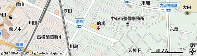 愛知県東海市大田町(的場)周辺の地図