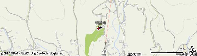 朝善寺周辺の地図