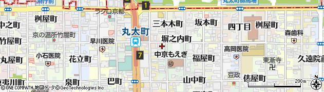 京都府京都市中京区三本木五丁目周辺の地図