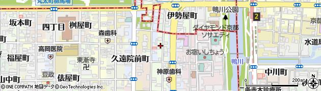 京都府京都市中京区西革堂町周辺の地図