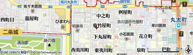 京都府京都市中京区東竹屋町周辺の地図