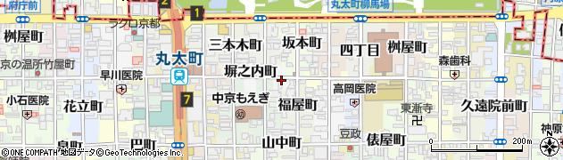 京都府京都市中京区塀之内町周辺の地図