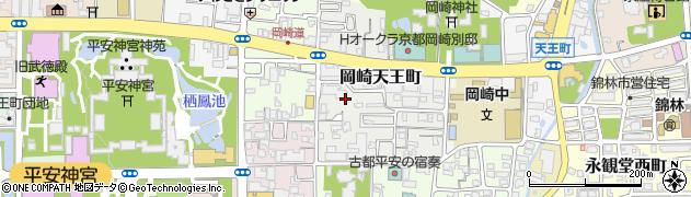 京都府京都市左京区岡崎天王町周辺の地図