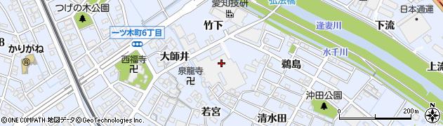 愛知県刈谷市一ツ木町(竹下)周辺の地図