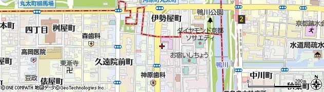 京都府京都市中京区大文字町周辺の地図