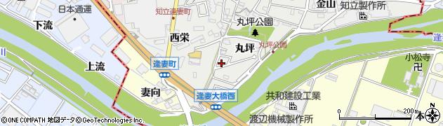 愛知県知立市逢妻町(丸坪)周辺の地図