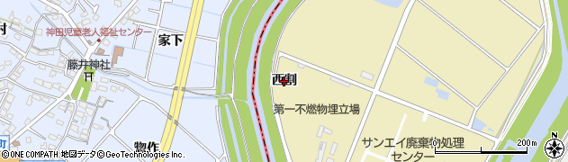 愛知県刈谷市泉田町(西割)周辺の地図