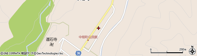 中畑公民館周辺の地図