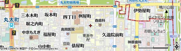 京都府京都市中京区魚屋町周辺の地図