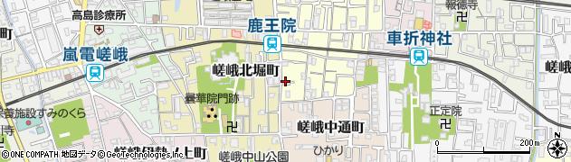 京都府京都市右京区嵯峨梅ノ木町周辺の地図