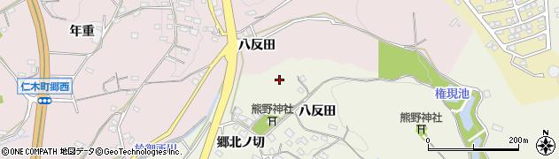 愛知県岡崎市八ツ木町周辺の地図