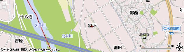 愛知県岡崎市仁木町(家下)周辺の地図