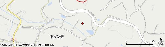 愛知県岡崎市外山町(上ソンデ)周辺の地図