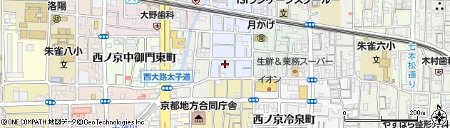 京都府京都市中京区西ノ京平町周辺の地図