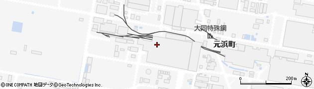 愛知県東海市元浜町周辺の地図