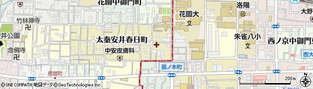 京都府京都市右京区花園春日町周辺の地図