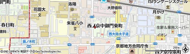 京都府京都市中京区西ノ京中御門東町周辺の地図